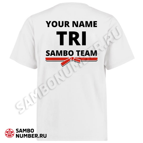 Trinidad and Tobago White Personalized Name & Backnumber Logo T-Shirt