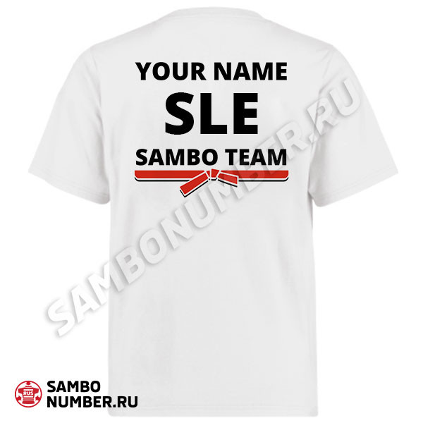 Sierra Leone White Personalized Name & Backnumber Logo T-Shirt