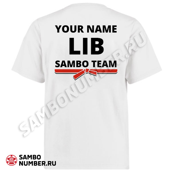 Lebanon White Personalized Name & Backnumber Logo T-Shirt