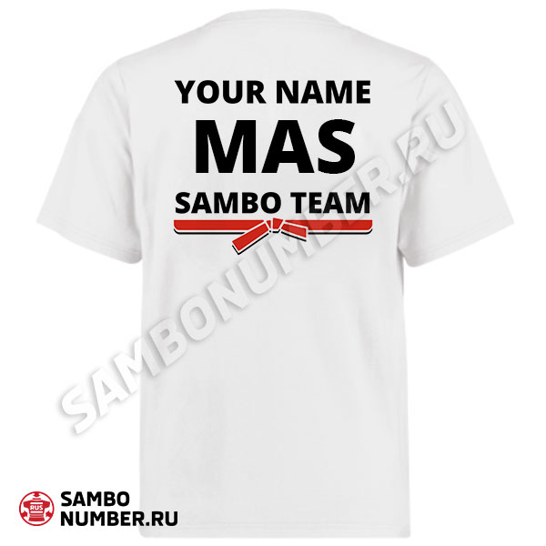 Malaysia White Personalized Name & Backnumber Logo T-Shirt